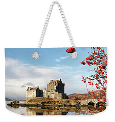 Weekender Tote Bag featuring the photograph Eilean Donan - Loch Duich Reflection - Skye by Grant Glendinning