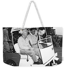 Eisenhower In A Golf Cart Weekender Tote Bag