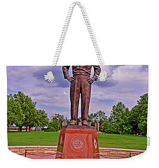Eisenhower Museum Courtyard Memorial 001 Weekender Tote Bag by George Bostian
