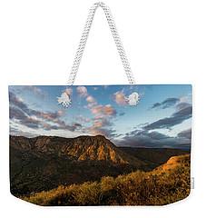 El Cajon Mountain Last Light Weekender Tote Bag