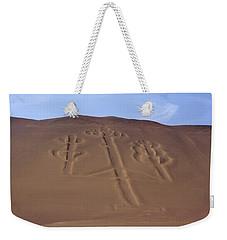 Weekender Tote Bag featuring the photograph El Candelabro Peru by Aidan Moran