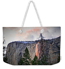 El Capitan Glowing Horsetail Falls Weekender Tote Bag