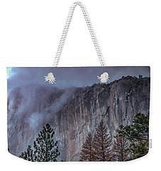 El Capitan Horsetail Falls Stormy Sunset Weekender Tote Bag