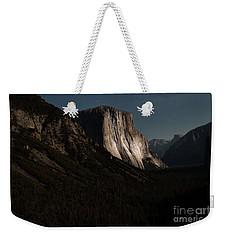 El Capitan In Moonlight At Yosemite Weekender Tote Bag