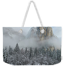 Weekender Tote Bag featuring the photograph El Capitan Majesty - Yosemite Np by Sandra Bronstein