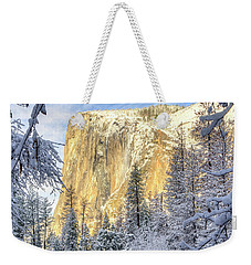 El Capitan Winter Majesty Yosemite National Park Weekender Tote Bag