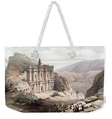 El Deir Petra 1839 Weekender Tote Bag by Munir Alawi