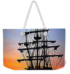 El Galeon At Sunrise Weekender Tote Bag