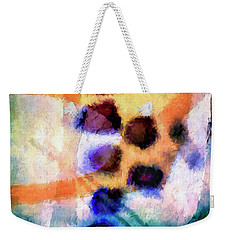 Weekender Tote Bag featuring the painting El Paso Del Tiempo by Dominic Piperata