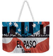 El Paso Tx American Flag Vertical Weekender Tote Bag by Angelina Vick