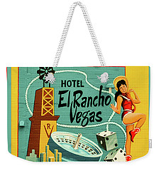 Weekender Tote Bag featuring the photograph El Rancho by Jeff Burgess