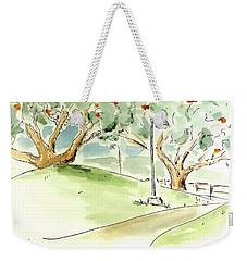 Weekender Tote Bag featuring the painting El Toro Park by Maria Langgle