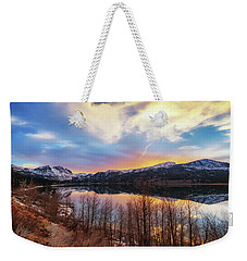 Weekender Tote Bag featuring the photograph Elevated by Tassanee Angiolillo