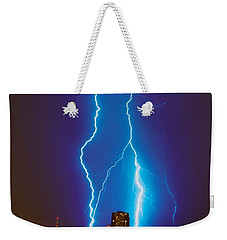 Electric Blue Weekender Tote Bag