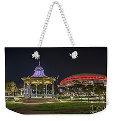 Weekender Tote Bag featuring the photograph Elder Park Elegance by Ray Warren