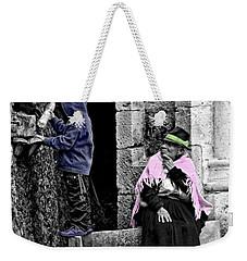 Weekender Tote Bag featuring the photograph Elderly Beggar In Biblian II by Al Bourassa