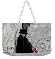 Weekender Tote Bag featuring the photograph Elderly Beggar In Chordeleg by Al Bourassa