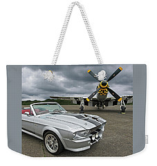 Eleanor Mustang With P51 Weekender Tote Bag