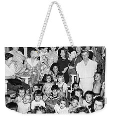 Eleanor Roosevelt And Children Weekender Tote Bag by Underwood Archives