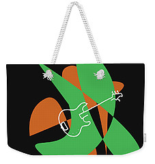 Electric Bass In Green Weekender Tote Bag by David Bridburg