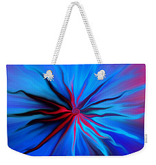 Weekender Tote Bag featuring the photograph Electric Blue 2 by Trena Mara