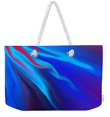 Weekender Tote Bag featuring the photograph Electric Blue by Trena Mara