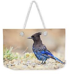 Electric Blue Weekender Tote Bag
