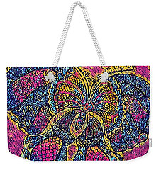 Electric Butterfly 2  Weekender Tote Bag