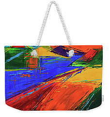 Weekender Tote Bag featuring the painting Electric Color by Jeanette French