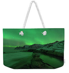 Weekender Tote Bag featuring the photograph Electric Night by Alex Lapidus