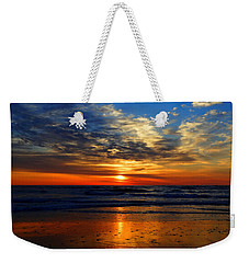 Electric Golden Ocean Sunrise Weekender Tote Bag
