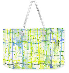 Electric Rain Watercolor Weekender Tote Bag