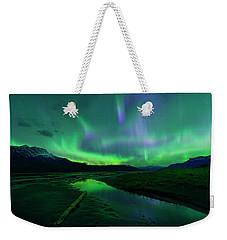 Electric Skies Over Jasper National Park Weekender Tote Bag