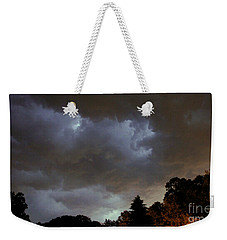 Electric Sky Of Faces Weekender Tote Bag