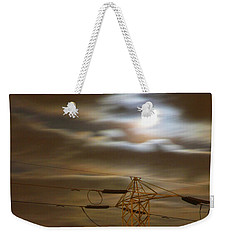 Electric Tower Under Supermoon Weekender Tote Bag