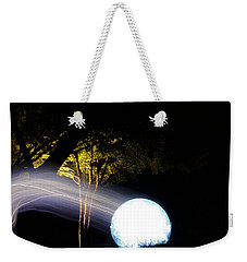 Weekender Tote Bag featuring the photograph Electrical Aura by Kristin Elmquist