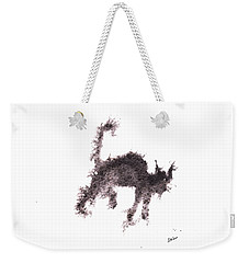 Weekender Tote Bag featuring the painting Electricat by Marc Philippe Joly
