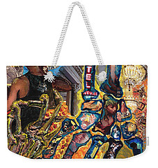 Electricity Hand La Mano Poderosa Weekender Tote Bag by Emily McLaughlin