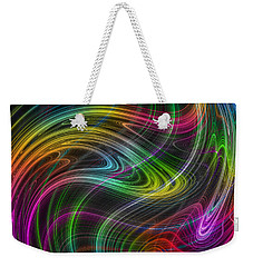 Weekender Tote Bag featuring the photograph Electron Storm by Mark Blauhoefer