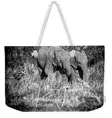 Elefriends Weekender Tote Bag by Karen Lewis
