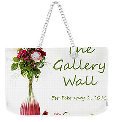 Weekender Tote Bag featuring the photograph Elegance-the Gallery Wall Logo by Wendy Wilton