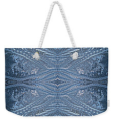 Elegant Blues Frosty Window Design Weekender Tote Bag