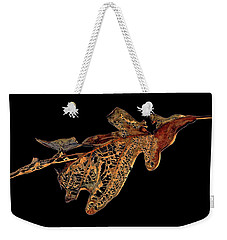 Weekender Tote Bag featuring the photograph Elegant Demise by Lynda Lehmann