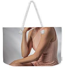 Elegant Johanna In Peach Weekender Tote Bag