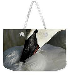 Elegant Trumpeter Swan Weekender Tote Bag