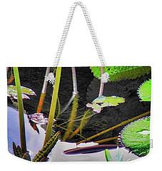 Elegant Water Lily Weekender Tote Bag