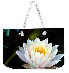 Elegant White Water Lily Weekender Tote Bag
