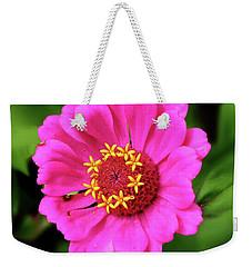 Elegant Zinnia Flower Pink Tones Weekender Tote Bag