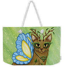 Elemental Earth Fairy Cat Weekender Tote Bag