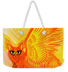 Elemental Fire Fairy Cat Weekender Tote Bag